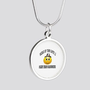 Smile If You Love Family Nur Silver Round Necklace