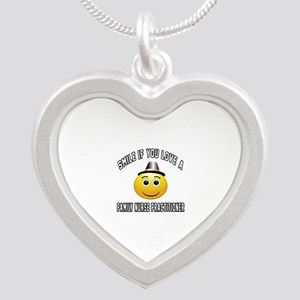 Smile If You Love Family Nur Silver Heart Necklace