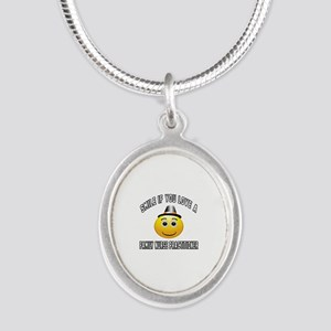 Smile If You Love Family Nurs Silver Oval Necklace