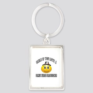 Smile If You Love Family Nurse P Portrait Keychain