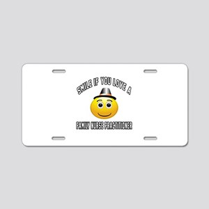 Smile If You Love Family Nu Aluminum License Plate