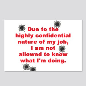 Confidential Job Postcards (Package of 8)