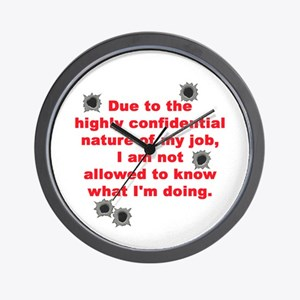Confidential Job Wall Clock
