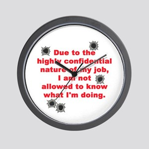 Confidential Job Wall Clock