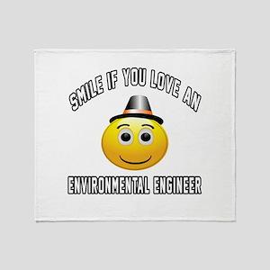 Smile If You Love Environmental engi Throw Blanket