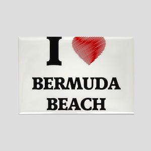 I love Bermuda Beach Texas Magnets