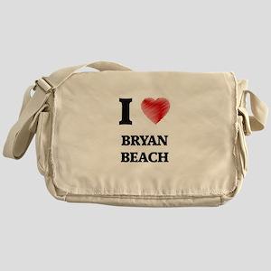 I love Bryan Beach Texas Messenger Bag