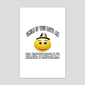 Smile If You Love Electrician Mini Poster Print