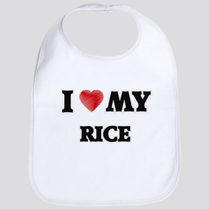 I Love My Rice food design Bib