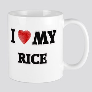 I Love My Rice food design Mugs