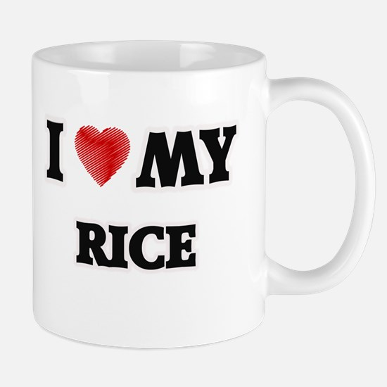 I Love My Rice food design Mugs