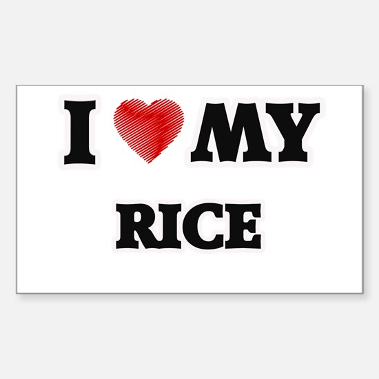 I Love My Rice food design Decal