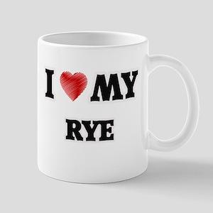 I Love My Rye food design Mugs