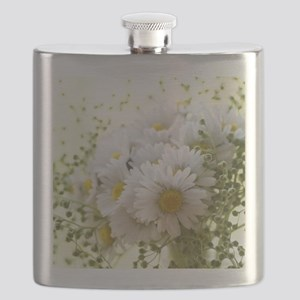 Bouquet of daisies in LOVE Flask