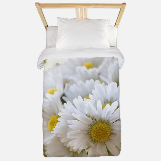 Bouquet of daisies in LOVE Twin Duvet