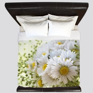 Bouquet of daisies in LOVE King Duvet