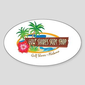 Gulf Shores Surf Shop - Oval Sticker