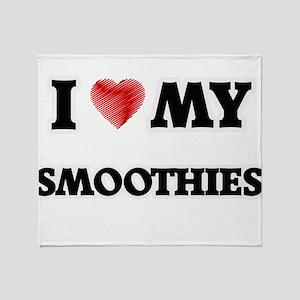 I Love My Smoothies food design Throw Blanket