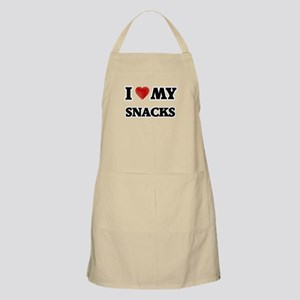 I Love My Snacks food design Apron