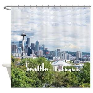 Seattle Skyline Shower Curtains
