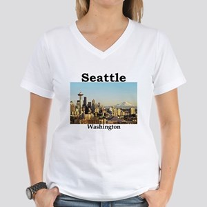 Seattle Women's V-Neck T-Shirt