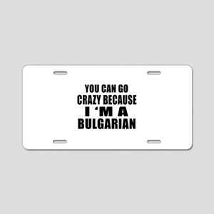 Bulgarian Designs Aluminum License Plate