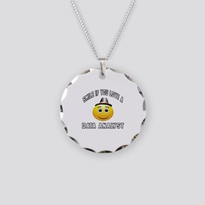 Smile If You Love Data analy Necklace Circle Charm
