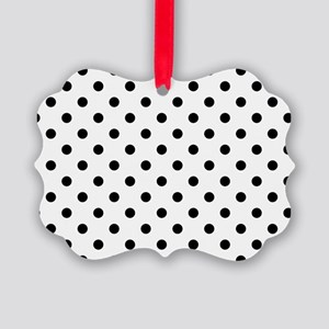 Girls just wanna have dots - whit Picture Ornament