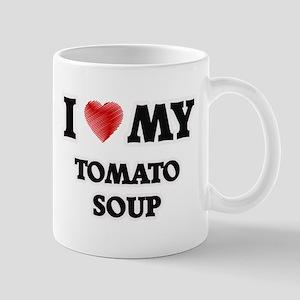 I Love My Tomato Soup food design Mugs