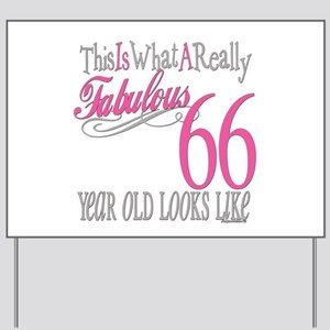 66th Birthday Gifts Yard Sign