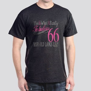 66th Birthday Gifts Dark T-Shirt