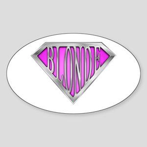 SuperBlonde(pink) Oval Sticker