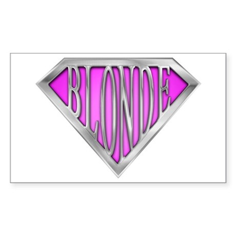 SuperBlonde(pink) Rectangle Sticker