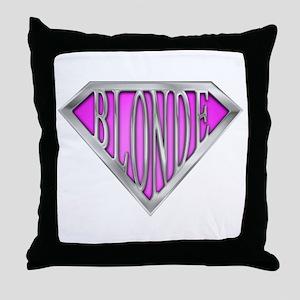 SuperBlonde(pink) Throw Pillow