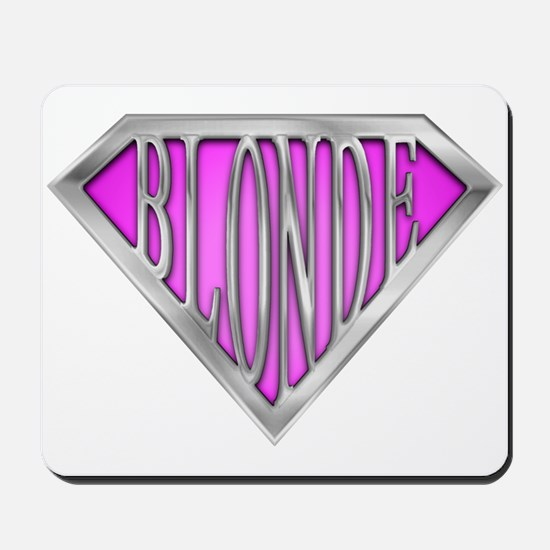 SuperBlonde(pink) Mousepad