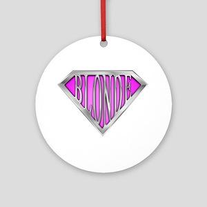 SuperBlonde(pink) Ornament (Round)