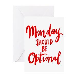 Monday greeting cards cafepress m4hsunfo