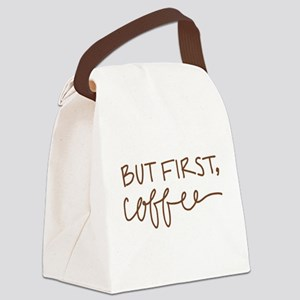 BUT FIRST, COFFEE Canvas Lunch Bag