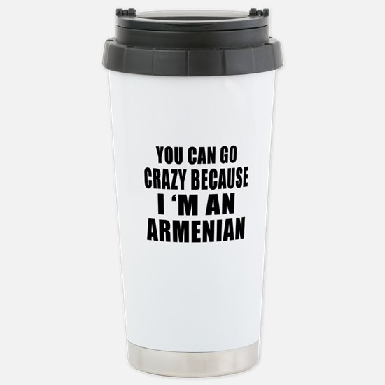 Armenian Designs Stainless Steel Travel Mug