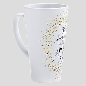 She Leaves a Little Sparkle Faux G 17 oz Latte Mug
