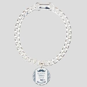 Happy Father's Day Charm Bracelet, One Charm