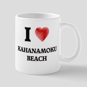 I love Kahanamoku Beach Hawaii Mugs