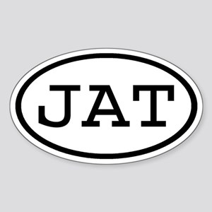 JAT Oval Oval Sticker
