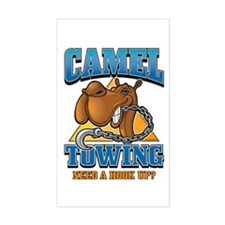 Camel Towing Rectangle Sticker