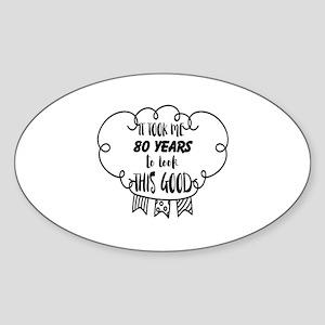 80th birthday Sticker (Oval)