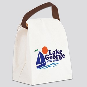 Lake George New York Canvas Lunch Bag