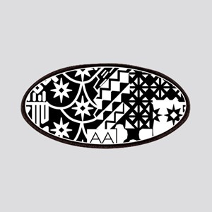 Black and white Geometric African Tribal Pattern P