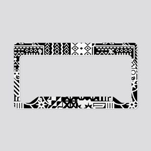 Black and white Geometric African Tribal Pattern L
