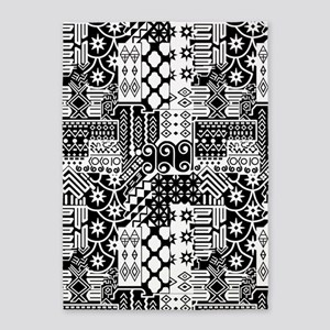 Black and white Geometric African Tribal Pattern 5