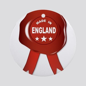 Made In England Round Ornament